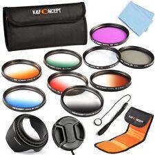52mm Graduated Color UV CPL FLD ND Lens Filter Kit Hood Pen Cap For Nikon 18-55