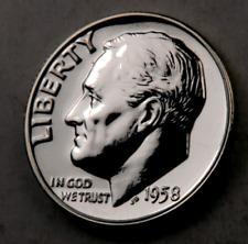 (1) 1958 Roosevelt Dime // Gem Proof DCAM // 90% Silver // 1 Coin