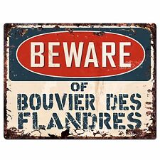 Ppdg0026 Beware of Bouvier Des Flandres Plate Rustic Chic Sign Decor Gift