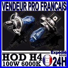 AMPOULE PLASMA HOD H4 100W LAMPE HALOGENE FEU EFFET XENON BLANC BLANCHE 6000K 12