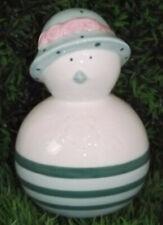 Easter Decoration Chicks Deco Shabby Ceramic Green White 12*8 CM