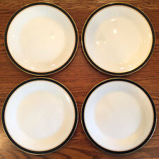 4 Vint NORITAKE CHINA IVORY AND EBONY SALAD PLATES~MORE AVAIL~7274 BLACK GOLD