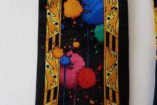 Rush Limbaugh Silk Tie W/chain Paint spots Black WILD