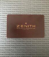 Open Zenith Watch Warranty Certificate Blank Card
