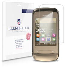 iLLumiShield Phone Screen Protector w Anti-Bubble/Print 3x for Nokia C2-03