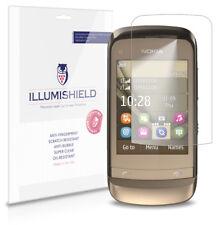 iLLumiShield Phone Screen Protector w Anti-Bubble/Print 3x for Nokia C2-03