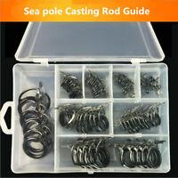 75*SEA Casting Spinning Fishing Rod Eyes Guide Ring Kit Building Repair Ceramic