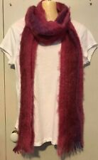 ST ALBANS - Pink & Purple Ladies Long Mohair Scarf
