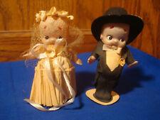 Antique Celluloid Bride & Groom