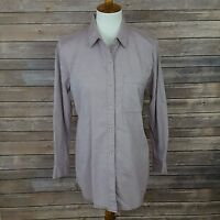 The Territory Ahead Womens Sz Small Purple Pocket Front L/S Button Down Top