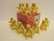 Nel Regno Unito commercio 1333 confezione da 12 orsi polari seduta 54 mm MIB (bs840)