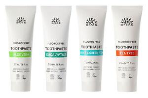 Urtekram Fluoride Free Organic Toothpastes 75ml - Vegan - Multiple Choice