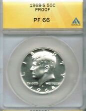 1968-S 50C Proof Kennedy Half Dollar ANACS PF 66