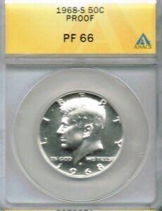 1968-S 50C Proof Kennedy Half Dollar ANACS PF 66
