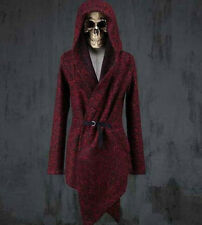 Celebrity Mens Outwear Long Cape cloak  Korean Wool Top coat  Hooded Jacket