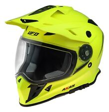 UFO Adventure Off Road Enduro Helmet Akan 2019 Neon Yellow Medium (57-58cm)