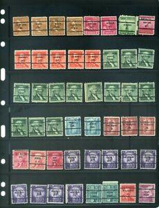 48 Piece US Precancel Collection TEN14