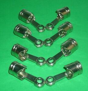 1/6 Scale Set of Eight Engine Pistons Diecast Garage Diorama Miniature V8 Items