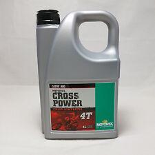 MOTOREX CROSS POWER 4t 10w60 Dl MOTORE, OLIO 10 w60 4 litri tanica bottiglia