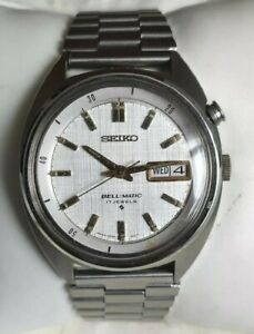 Vintage Seiko Bell-Matic 4006-6031 Automatic Day Date Stainless Steel Mens Watch