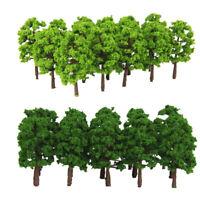 8cm 40Pcs Plastic Green Model Trees for Railway Park Wargame Landscape Scene