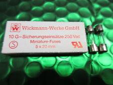 Fusible de cristal de acción rápida 4A 4 Amp 250v 240v 5x20 mm Miniatura. X10, extractora