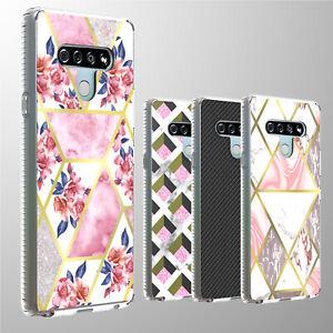 For LG Stylo 6 Case Marble Shockproof Slim Fit Hard Back Lightweight Phone Cover