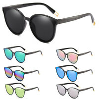 Fashion Women Cat Eye Flat Oversized Eyewear Mirror Square Sunglasses HOT
