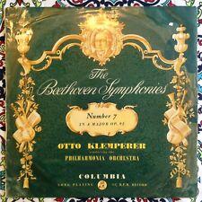 Klemperer Beethoven Symphony 7 1956 LP UK Columbia 33cx 1379
