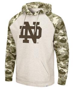 Colosseum Mens Notre Dame Military Appreciation OHT Hoodie Sweatshirt Medium M