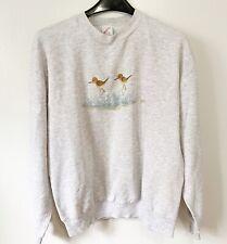 Vintage Jerzees Sweatshirt Crew neck Ducks Birds Usa made Size L