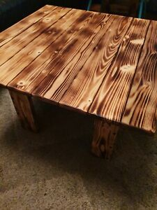 Rustic chunky handmade coffee table