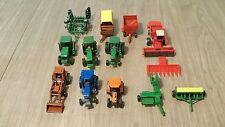 Lot Of 1/64 Farm Tractors & Implements John Deere Agco Allis New Holland IHC