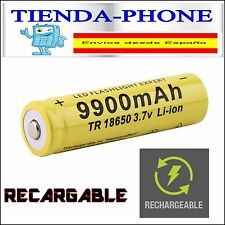 PILA RECARGABLE 18650 9900mAh Li-ion 3,7V UltraFire Litio Batería Protección