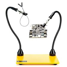 Third Hand Soldering Tool PCB Holder Two Magnetic Based Flexible Metal Arms