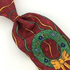 FLORENCE FLORAL MAROON SANTA LIGHT WEIGHT Christmas Mens Necktie Ties #XP1-181