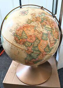 "Vintage REPLOGLE GLOBE 16"" DIAMETER WORLD CLASSIC SERIES WITH STAND  Bronze Base"