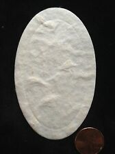 50 Oval Handmade Mulberry Paper White Card Topper Blanks scrapbooks photos craft