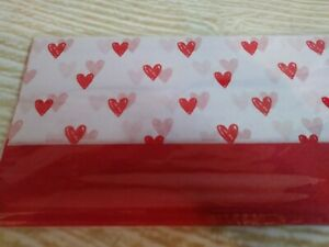 New!  Red & White HEARTS Love Gift Tissue Paper 10 - 20x20 Sheets Valentines ❤️