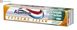 Aquafresh Extreme Clean Pure Breath Action Fluoride Toothpaste, Fresh Mint 5.6oz