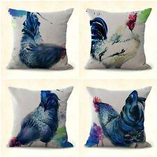 US SELLER, 4pcs cushion covers farm pet animal rooster wholesale decor pillows