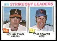 1977 Topps Ryan/Seaver Strikeout Ldrs #6