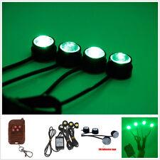 4x Green LED Car SUV Strobe emergency light super Hawkeye Grille Flashing lamp