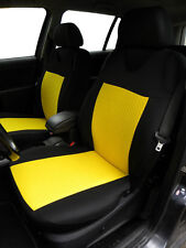 2 YELLOW FRONT CAR SEAT COVERS WITH DOTS FOR NISSAN JUKE
