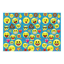 9' x 6' EMOJI Backdrop BIRTHDAY Party DECORATION photo prop wall mural picture