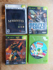 XBox Game LOT of 4 Games-Morrowind, Halo 2, Brute Force, Simpsons Road Rage