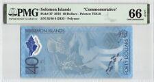 Solomon Islands 2018 P-27 PMG Gem UNC 66 EPQ 40 Dollars *Commemorative*