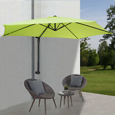 Parasol mural Casoria, parasol déporté, balcon, 3m, inclinable ~ vert limon