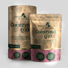 CoEnzyme Q10 300mg Vegan Capsules - 100% Pure and Natural Highly Absorbable UK