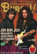 Burrn! Heavy Metal Magazine September 1997 Japan Yngwie Malmsteen Megadeth